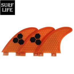 Großhandel Gute Qualität Surfen FCS Modell Fiberglas Waben Tri Flossen Set Surfbrett Heckruder G5 Größe Surfbrett Thruster Flossen