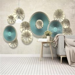 simple bedroom decorations Australia - Custom 3D Nordic simple round wall decoration photo wallpaper living room bedroom TV background wall papers home decor murals wall paper 3d