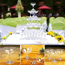 $enCountryForm.capitalKeyWord Australia - 10.5*8.4CM Clear acrylic Champagne wine Glass Cup 150ML drinking cup whiskey cocktail glass cup goblet tower bar disco wedding party props