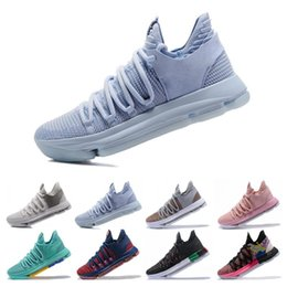 best service 5e8c7 9fb21 Mens zoom KD Basketball Shoes 2018 Top quality KD 10 Oreo Be True UniversIty  Red White Chrome Kevin Durant Outdoor Sneakers Sports Shoes