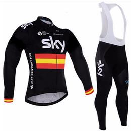 $enCountryForm.capitalKeyWord Australia - SKY team Cycling long Sleeves jersey (bib) pants sets Men's Outdoors MTB Running Bicycle NEW Riding Bike Clothes Sportwear