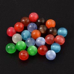 resin beads for jewelry making NZ - 1000pcs Mixed Color Round Resin Beads for jewelry making DIY, about 8mm in diameter, hole: 1.5mm