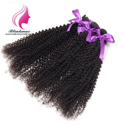 New Afro Kinky Hair Australia - Blinkmax Hair 3bundles New Coming Most Fashion Mongolian Virgin Afro Kinky Human Hair For Black Women