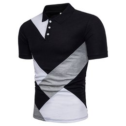 high quality polo shirts men Canada - Men 2018 Summer Fashion Camisa Polo Shirts High Quality Short Sleeve Mens Polo Shirt Brands Breathable Brand Tee Tops