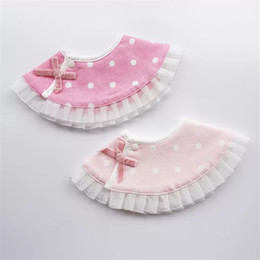 $enCountryForm.capitalKeyWord Australia - Baby Girl Round Bibs Infant Cotton Burp Cloths Baby Feeding Scarf Lovley Ruffled Princess Bib Kids Clothing Accessories