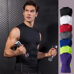 $enCountryForm.capitalKeyWord Australia - Summer Men'Tights Training Vest Running Fitness Yoga Basketball Elastic Quick-drying Yoga T-Shirt Polyester Sports Clothes XXL