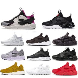 Discount huaraches for - 2019 Huarache 4.0 1.0 Classical Triple White Black Red Running Shoes for mens womens Huaraches Sports Sneaker Trainers S