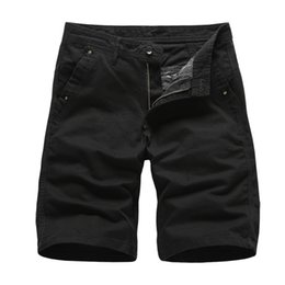mens knee length cargo shorts Australia - 2020 Brand New Mens Cargo Shorts High Quality Black Short Pants Men Cotton Solid Casual Beach Shorts Men Summer Bottom