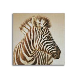 Art Canvas Prints Australia - YJ ART zebra Unframed Modern Canvas Wall Art for Home and Office Decoration, Animal ,Frame painting prints