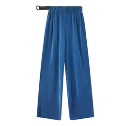 Pregnant Spring Australia - Pregnant Women's Pants Women Spring and Summer Thin New Trendy Mom Wearing Korea Pleated Loose Pregnant Women Fall Feeling Wide Leg Pants Pa