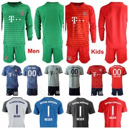 a58ec2a5781 18 19 Long Sleeve Goalkeeper Bayern Munich Soccer 26 Sven Ulreich Jersey 1  Manuel Neuer 1 Oliver Kahn Football Shirt Kits Uniform
