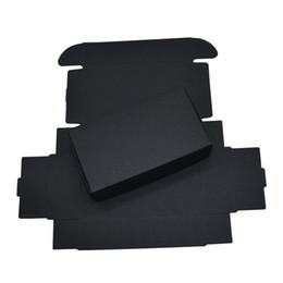 $enCountryForm.capitalKeyWord Australia - 11*6*2.2cm 50pcs lot Black Decor Party Weeding Storage Boxes Cardboard Boxes Handmade Soap Storage Boxes Kraft Paper Gift DIY Packaging Box