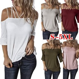 simple ladies t shirt NZ - Designer Women T Shirt None Sleeves Halter Luxury Simple Fashion Big Size Women T Shirt Hot Trumpet Sleeve Shoulder Strap T-shirt Lady.