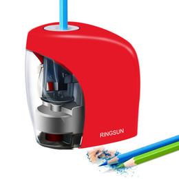 Электрическая автоматическая точилка для карандашей Канцтовары для канцтоваров для карандашей No.2 (8 мм) и цветные карандаши Батарея / USB заряд на Распродаже