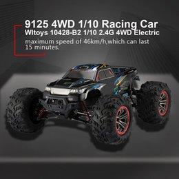 Qualidade 9125 4WD 1/10 alta velocidade 46 kmh elétrica Supersonic Truck Off-Road Vehicle Buggy RC Racing Car brinquedos eletrônicos RTR MX200414 em Promoção