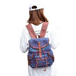 Jelly Backpack Style Australia - Women Rural Folk Pastoral Style Bag Canvas Backpack School Bag as Casual Travel Shoulder Bag 2017 fashion