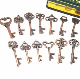Wholesale Beer Decor Australia - DHL KeyChain Beer Bottle Openers Bar Tools vintage Key Ring Home Decor Kitchen Accessories Party Supplies Wedding Decorations