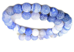 Onyx Stones Jewelry Australia - INK BLUE 4MM 8mm 6MM 10MM Weathered Agates Natural Stone Beads Frost Onyx Round Loose Beads Necklace Bracelet Earrings DIY Jewelry Making