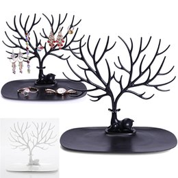 Wholesale Deer Tray Display Stand ABS Plastic Jewelry Holder Fashion Tree Shelf Stand Holder for Earrings Necklace Ring Organizer