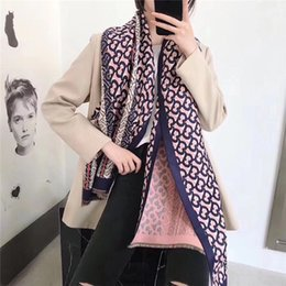 warming scarf Canada - New Fashion Cashmere Blended Autumn Winter Scarf Women Double sided Double color Warm scarf Women Cashmere Blended Scarf Thick Shawl DP91110