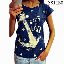$enCountryForm.capitalKeyWord NZ - Women's Tee 2017 Summer Tops Tees Ladies Short T Shirt Women Boat Anchor T-shirt Female T Shirt Woman Clothes Plus Size
