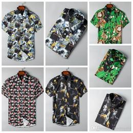 $enCountryForm.capitalKeyWord Australia - 2019 brand men's business casual shirt, short sleeve stripe tight, business T-shirt new fashion men's plaid shirt-4