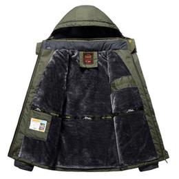 Waterproof Parka Men Australia - Winter Fleece Jackets Men Windproof Waterproof Outwear Parka Mens Windbreaker Warm Raincoat Coat Plus Size 9XL Overcoat