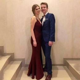 $enCountryForm.capitalKeyWord Australia - Royal Blue Men Suits Custom Made Wedding Suits For Man Evening Party Groom Wear Prom Tuxedos Blazer Jacket+Pants 2Pieces Terno Masculino