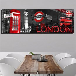 modern decorative frames Canada - 1 Pcs Modern London City View Prints And Posters For Living Room Big Ben Home Decorative Pictures Landscape Canvas Painting No Frame