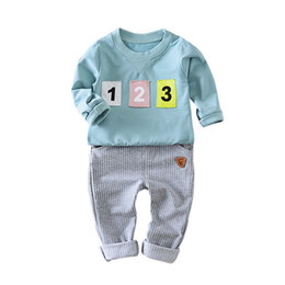 Cheap winter Clothing sets online shopping - Autumn Baby Boy Clothes Set Children Clothing Sets Letter Long Sleeve T shirts Pants Outfit Cheap