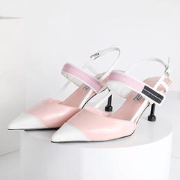 $enCountryForm.capitalKeyWord Australia - 2019 newest chinese brand Leather woman sandal Women Sandals lady Slippers Summer pumps Slipper Flip Flops high heels shoes