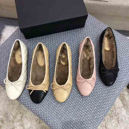 $enCountryForm.capitalKeyWord UK - 2019 Women's luxury winter ballet shoes, electric embroidery lingge grain warm ballet shoes, winter rabbit hair ballet shoes,size:35-41