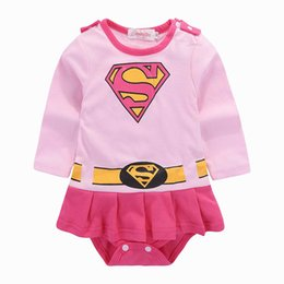 e1c899378def Superman Baby Rompers Pink long sleeve Dresses Girls Romper Cotton Newborn  Jumpsuit Infant One Piece Clothing baby girl clothes A2850