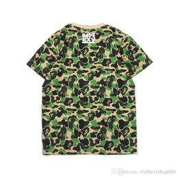 Short Sleeve Sweaters T Shirt Australia - H1316- Tide brand, camouflage shading sweater, couple models T-shirt, short sleeves.