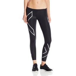 long compression pants women NZ - Cycling Tights Pants Splicing Compression Women's Long Pants Spandex Running Base Layers Quick-dry Running Fitness