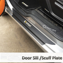 Sill Scuff protector online shopping - Smart Accessories Door Sill Scuff Plate Guards Carbon Fiber Door Sills Protector for smart fortwo forfour