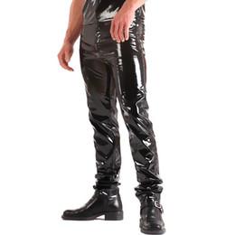 ee15418ecba732 ZOGAA 2019 Fashions Men Skinny Faux PU Leather Pants Shiny Trousers Shining  Nightclub Jeans Pants Plus Size Windbreaker