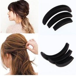 3 Pcs set Different Sizes Fluffy Crescent Clip Bangs Paste Root Hair Increased Device Good Hair Heighten Tools for Girl on Sale