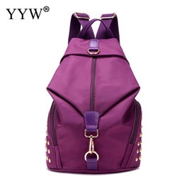 teenage bags for high school 2019 - Fashion Small Backpack for high school for Teenage Girls Waterproof girls with Rivet Zipper backpacks cheap teenage bags