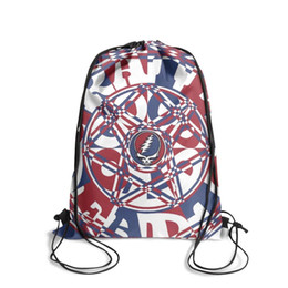 Tie chain men online shopping - Drawstring Sports Backpack Grateful Dead History cool adjustable limited edition Travel Fabric Backpack