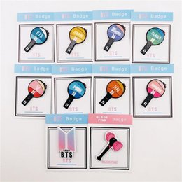 Styles Backpacks Australia - New BTS Blackpink Cute Mini Acrylic Badge for Clothes Hat Backpack Lightstick Style Brooches Button Army Blink Fans Gift