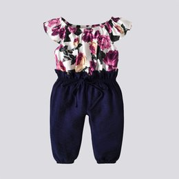 3b330b3415b9 18 month old girl online shopping - 2019 new hot spring and summer blue  floral jumpsuit