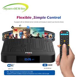 $enCountryForm.capitalKeyWord Australia - Android Smart TV Box Amlogic S905W Quad Core 2GB RAM 16GB ROM M9S W1 Android7.1 4K H.265 Streaming Media Player 2.4G Wifi Better S905X2 X96