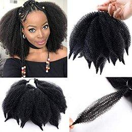 $enCountryForm.capitalKeyWord Australia - Ombre Marley Braids Hair Afro Kinky Curly Marley Curl Twist Braid Hair Extensions Kanekalon Synthetic Twist Crochet Hair