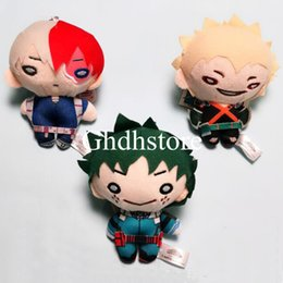 Wholesale heroes video games online – design Top New Styles quot CM My Hero Academia Bakugou Katsuki Todoroki Shoto Midoriya Izuku Plush Doll Anime Keychains Pendants Soft Toys
