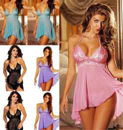 f9be2cb9d8f BaBydoll lingerie pajamas online shopping - Babydoll Woman Sexy Lingerie  Lace Sling Teddy Nightwear Dress Erotic