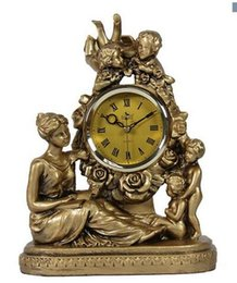 $enCountryForm.capitalKeyWord Australia - Retro-European Bell Living Room Creative silent clock Bedside cabinet electronic clock and TV cabinet Crafts home statues
