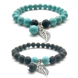 Wholesale Fancy Mens and Womens Best Gift Classic Design Handmade MM Colorful Natural Stone Lava Beads Bracelet