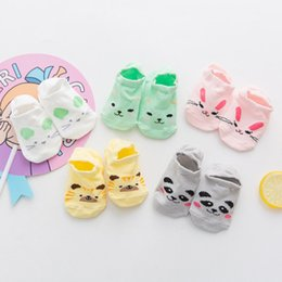 $enCountryForm.capitalKeyWord UK - Infant Baby Children's Cute Cartoon animal floor socks Korean version of pure cotton children invisible silicone antiskid boat baby socks