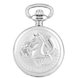 $enCountryForm.capitalKeyWord Australia - Small Size Silver Alchemist Full Metal Quartz Pocket Watch Women Men Kids Watches Fashion Clock Necklace Chain Best Christmas Gift